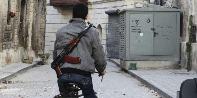 Dans une rue d'Alep, le 28 novembre 2012.