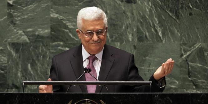 Le président palestinien Mahmoud Abbas à la tribune des Nations unies, le 29 novembre.