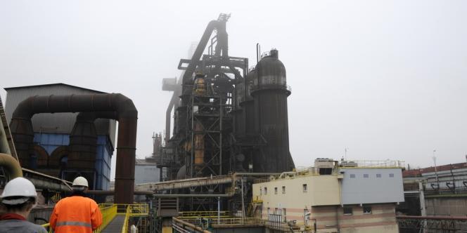 Vue des hauts-fourneaux d'ArcelorMittal à Florange, le 20 novembre 2012.