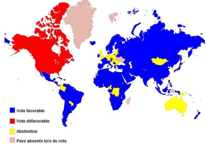 Le vote à l'ONU, jeudi 29 novembre 2012