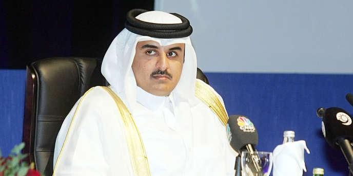 Le prince héritier, Tamim Ben Hamad Al-Thani, a Doha en 2006.