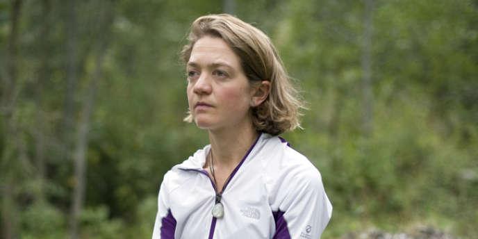 Lizzy Hawker, cinq fois vainqueur de l'ultra-trail du Mont-Blanc, à Chamonix, le 28 août 2012.