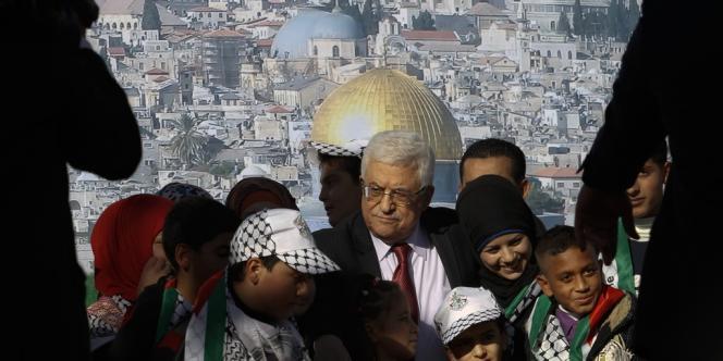 Mahmoud Abbas a fait un retour triomphal à Ramallah, le 2 décembre 2012.