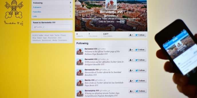 Le compte Twitter du pape, ouvert lundi 3 décembre.