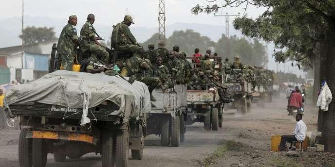 Les forces de l'armée régulière de la RDC entrent dans Goma, le lundi 3 décembre.