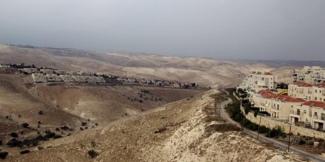 La colonie israélienne Maale Adumim, en Cisjordanie, à 7 kilomètres à l'est de Jérusalem.