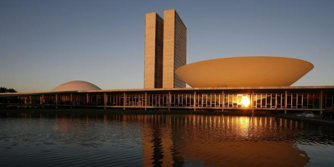 Le bâtiment du Congrès, à Brasilia, photographié en 2007.