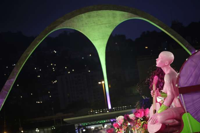 Le Sambodrome, l'une des créations architecturales d'Oscar Niemeyer (1984), ici en mars 2011.