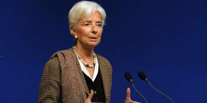 La directrice générale du FMI, Christine Lagarde, le 30 novembre à Paris.