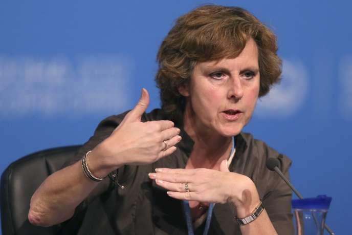 La commissaire européenne au climat, Connie Hedegaard, en décembre 2012, à Doha.