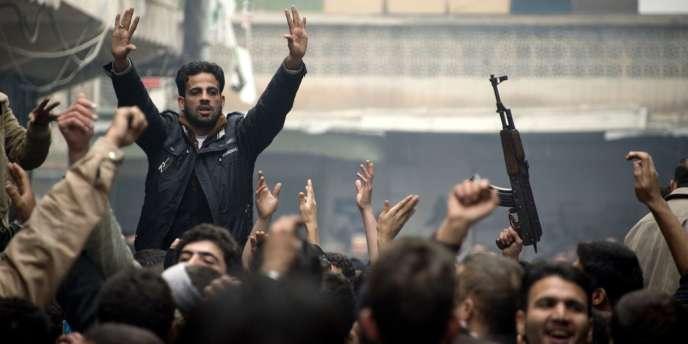 Manifestation anti-Bachar Al-Assad, vendredi 7 décembre à Alep.