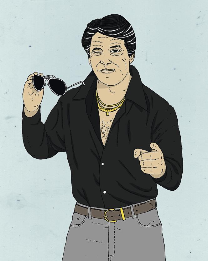 Régulièrement, la chemise noire, affublée de vertus amincissantes qu'elle ne possède pas réellement, vient souligner l'embonpoint de son propriétaire.