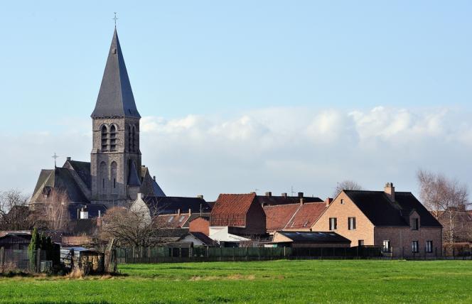 Le village de Néchin, proche de la frontière française, où l'acteur Gérard Depardieu a établi sa résidence.