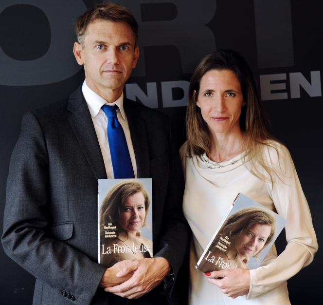 Christophe Jakubyszyn et Alix Bouilhaguet, lors de la présentation de leur livre