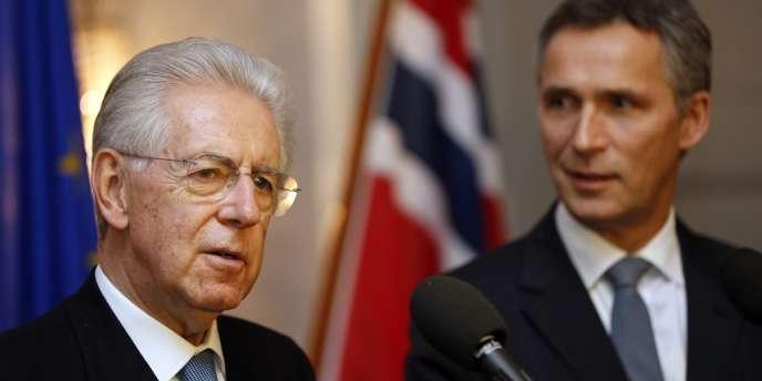 Le président du Conseil italien, Mario Monti, le 10 décembre à Oslo.