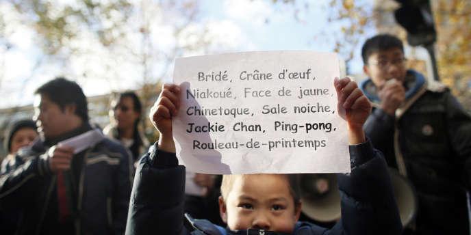 La communauté asiatique avait déjà manifesté contre la représentation stéréotypée des Chinois dans un article du