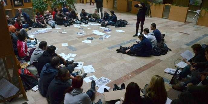 Manifestation étudiante à Szeged, le 10 décembre.