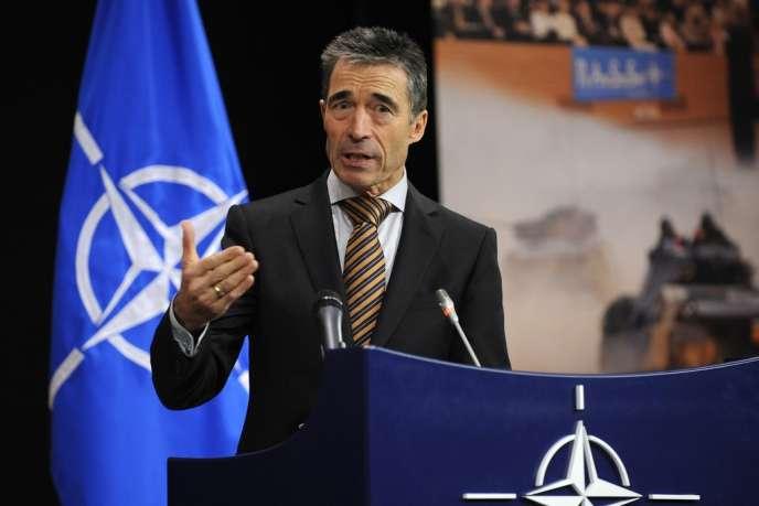 Anders Fogh Rasmussen, secrétaire général de l'OTAN, le 5 décembre 2012 à Bruxelles.