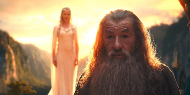 Cate Blanchett et Ian McKellen dans le film américain et néo-zélandais de Peter Jackson,