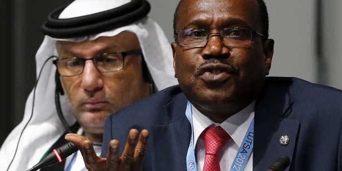Hamadoun Toure, secrétaire général de l'IUT, lors du sommet de Dubaï.