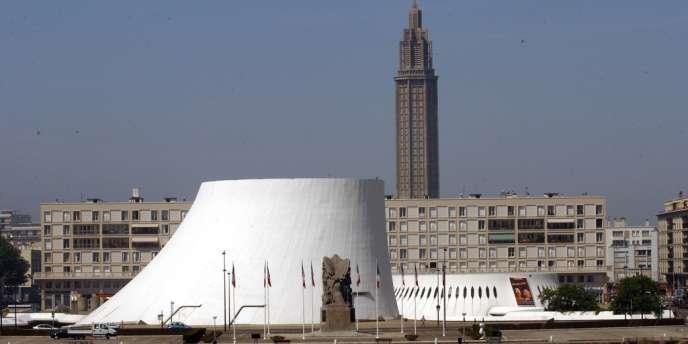 Le centre culturel Le Volcan, au Havre (Seine-Maritime).