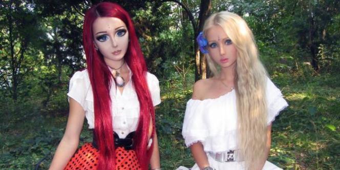 Valeria Lukyanova, la femme-Barbie, et sa copine Anastasiya Shpagina, la femme-manga.