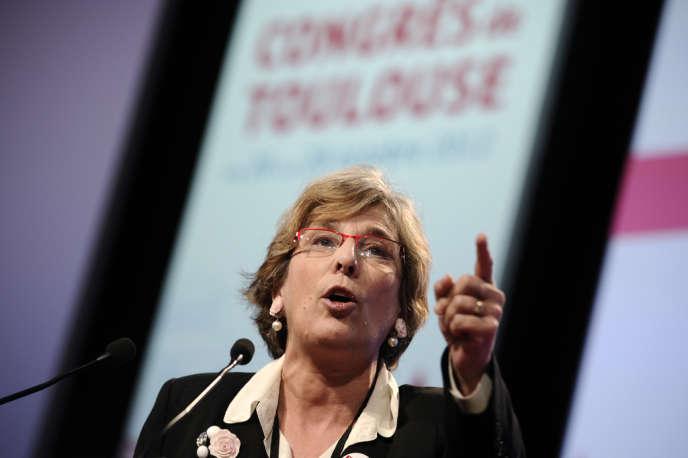 La sénatrice de Paris Marie-Noëlle Lienemann, lors du Congrès du Parti socialiste à Toulouse, le 27 octobre 2012.