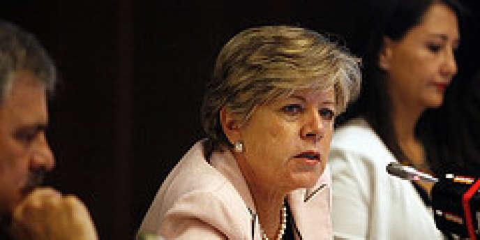 La Mexicaine Alicia Barcena, secrétaire exécutive de la Communauté économique pour l'Amérique latine et les Caraïbes (CEPAL), à Santiago du Chili, mardi 11 décembre 2012.