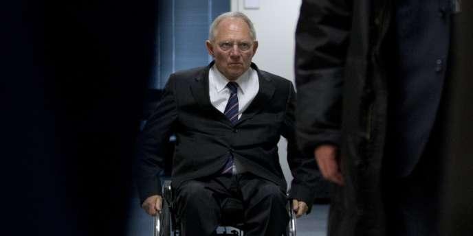 Le ministre allemand des finances, Wolfgang Schäuble, à Bruxelles, mercredi 12 décembre.