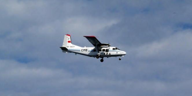 L'avion de surveillance chinois pris en photo par des gardes-côtes nippons, le 13 décembre 2012.