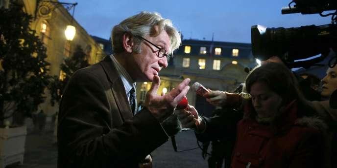 Jean-Claude Mailly, secrétaire général de FO, à Matignon, le 22 novembre 2012.