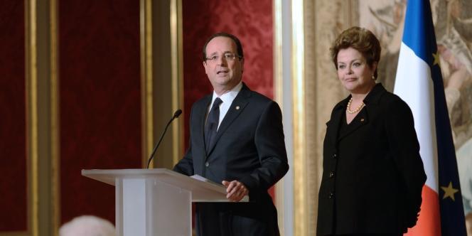 François Hollande et Dilma Roussef, le 11 décembre à l'Elysée.