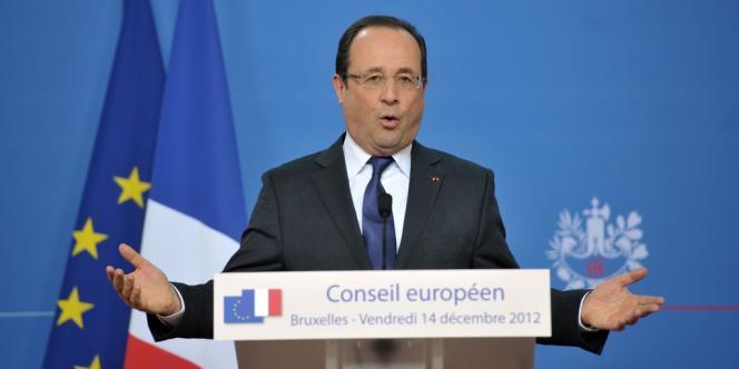 François Hollande à l'issue du Conseil européen, le 14 décembre à Bruxelles.