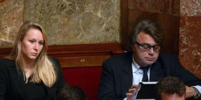 Marion Maréchal-Le Pen et Gilbert Collard, à l'Assemblée nationale, le 28 novembre.
