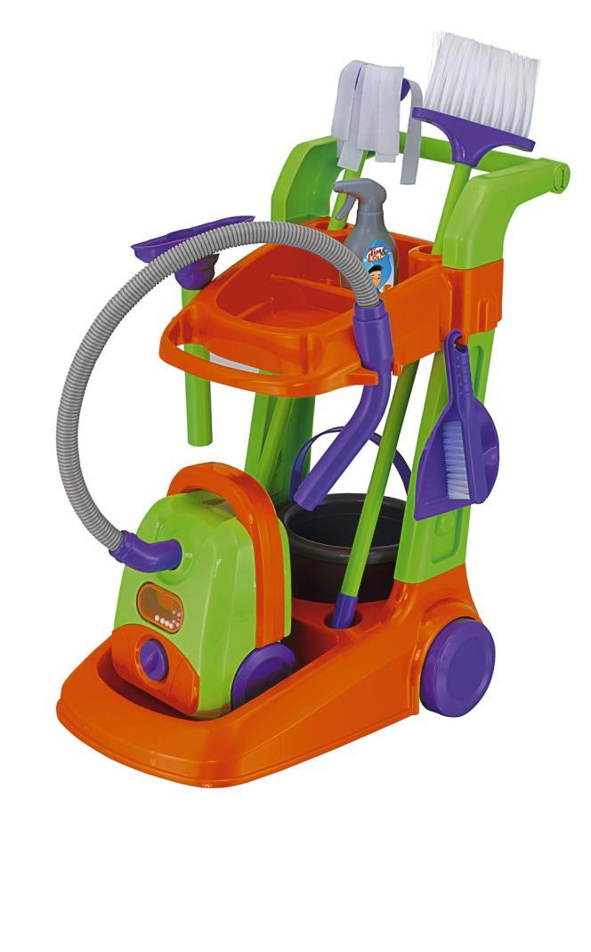 Depuis 2008, la Grande Récré propose une gamme de jouets unisexes, au code couleur neutre. Le grand succès de la gamme : l'aspirateur.