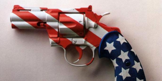 Une affiche américaine contre le port d'armes.
