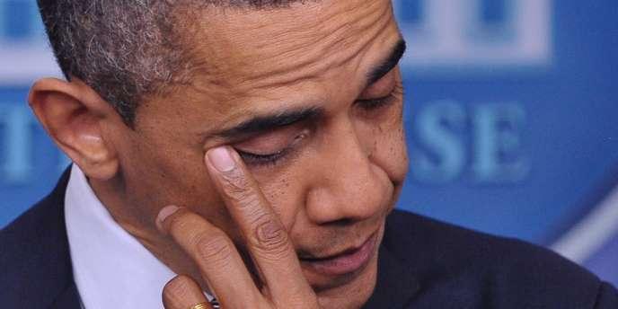 Barack Obama, lors de sa conférence de presse, le 14 décembre.