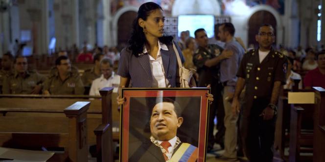 Messe en soutien d'Hugo Chavez à La Havane, Cuba, le 13 décembre.
