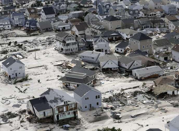 Maison détruites par l'ouragan Sandy à Seaside Heights, dans le New Jersey.