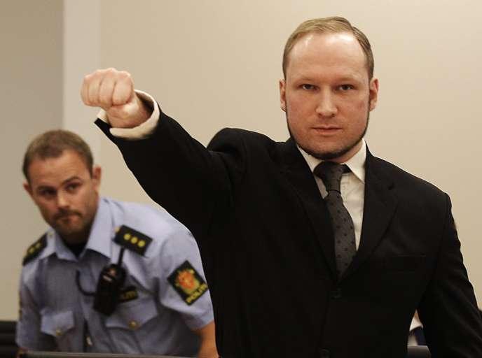 Anders Behring Breivik au tribunal, le 24 août 2012.