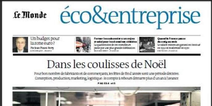 Le Monde daté mardi 18 décembre, cahier