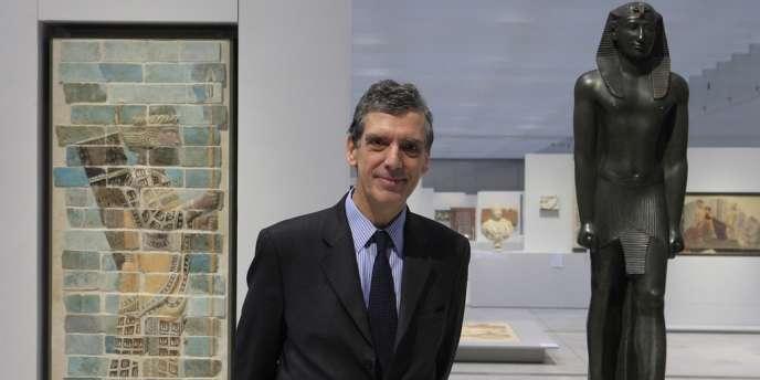 Le président-directeur du musée du Louvre, Henri Loyrette, lors de l'inauguration du Louvre-Lens, le 4 décembre 2012.