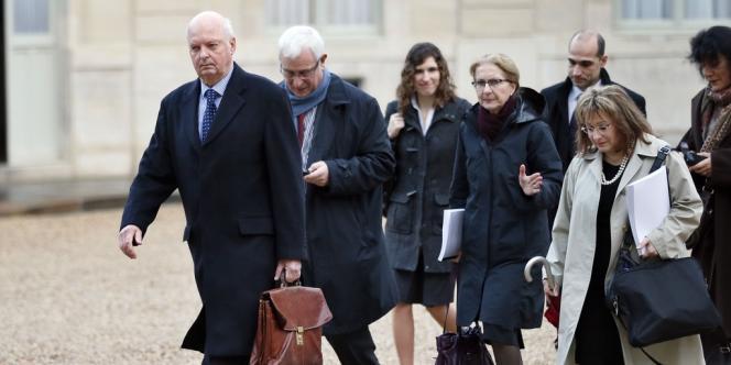 Le professeur Didier Sicard lors de son arrivée à l'Elysée, mardi 18 décembre.