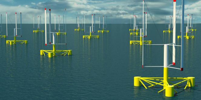 Le projet d'éolienne flottante à axe vertical VertiWind.