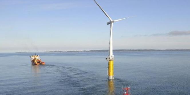 Le démonstrateur Hywind, installé au large des côtes norvégiennes en 2009.