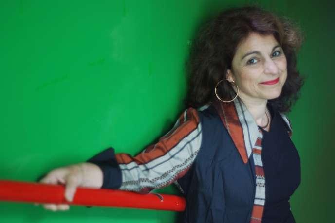 Mireille Larroche à bord de la Péniche Opéra.