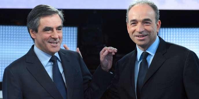 François Fillon et Jean-François Copé sur le plateau de France 2, le 25 octobre 2012.