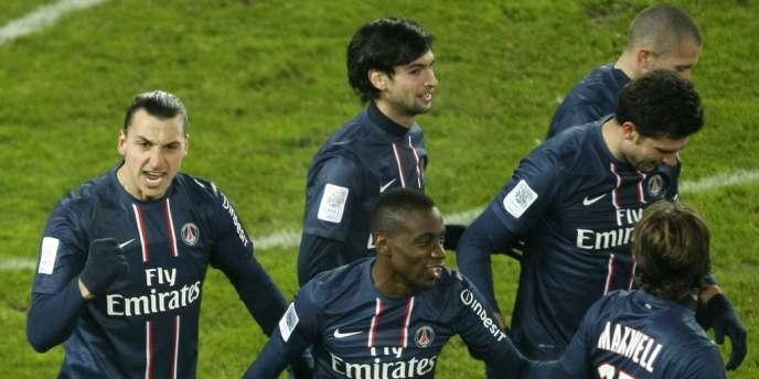 Les Parisiens, lors du match contre Valenciennes, le 11 décembre.