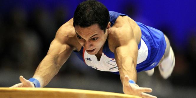 Thomas Bouhail, lors des championnats du monde de gymnastique de Tokyo, en octobre 2011.