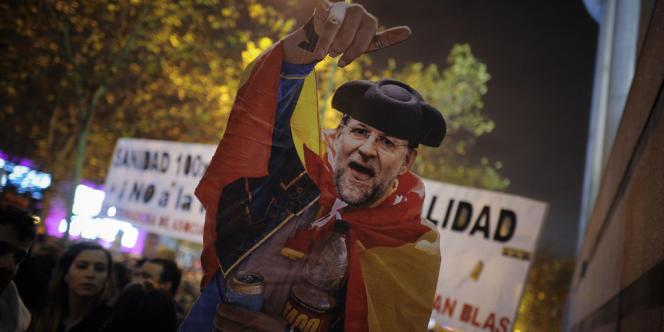 Manifestation, à Madrid, fin décembre 2012, contre la politique d'austérité menée par le gouvernement de Mariano Rajoy.